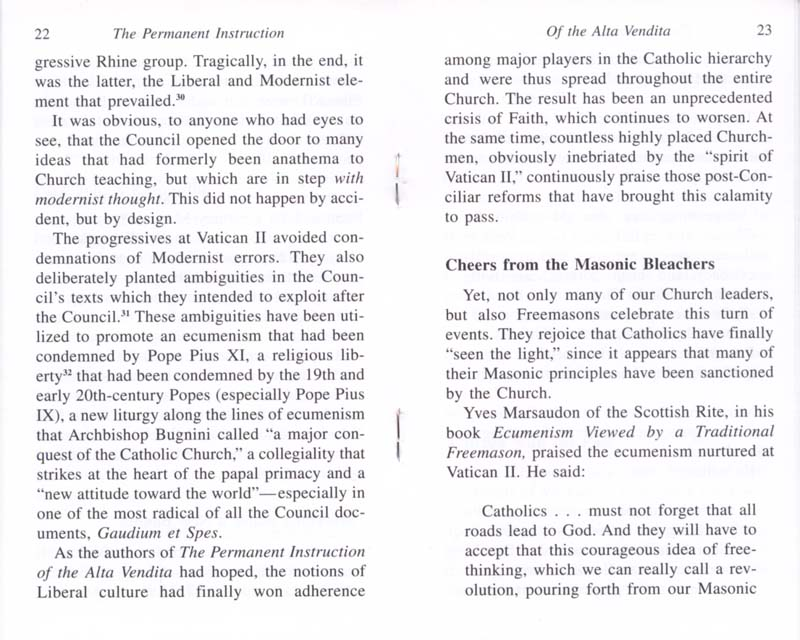 The Permanent Instruction of the Alta Vendita: A Masonic Blueprint for the Subversion of The Catholic Church page 22-23