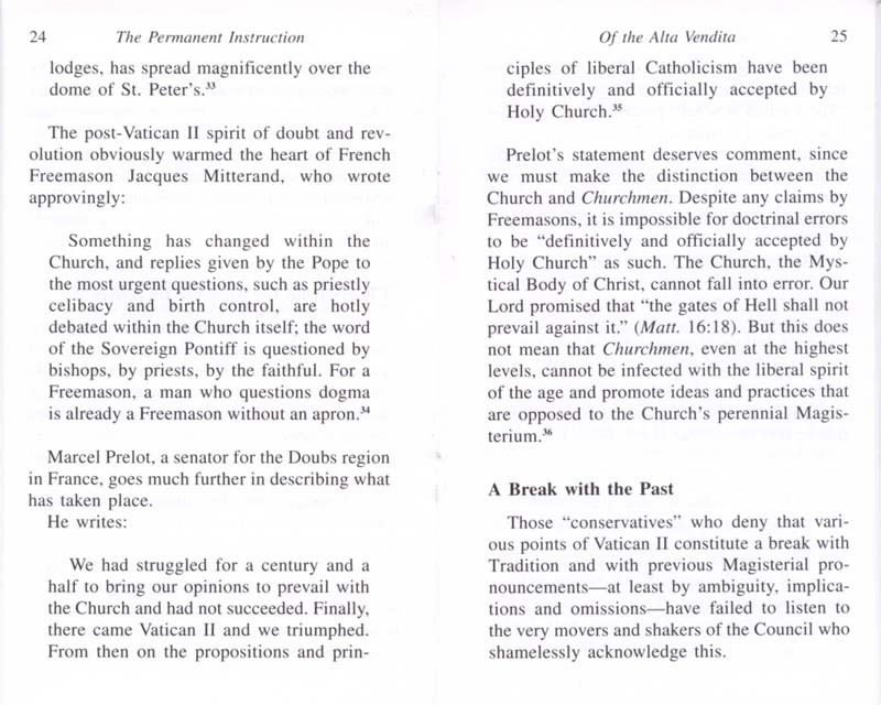 The Permanent Instruction of the Alta Vendita: A Masonic Blueprint for the Subversion of The Catholic Church page 24-25