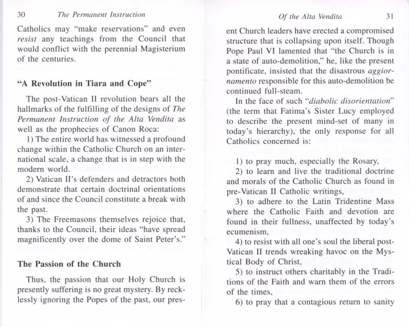 The Permanent Instruction of the Alta Vendita: A Masonic Blueprint for the Subversion of The Catholic Church page 30-31