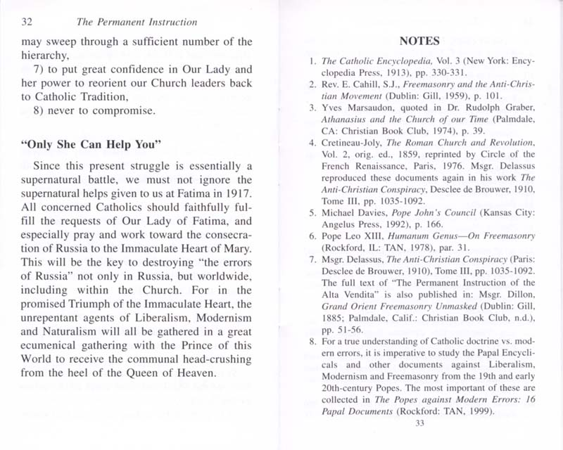 The Permanent Instruction of the Alta Vendita: A Masonic Blueprint for the Subversion of The Catholic Church page 32-33