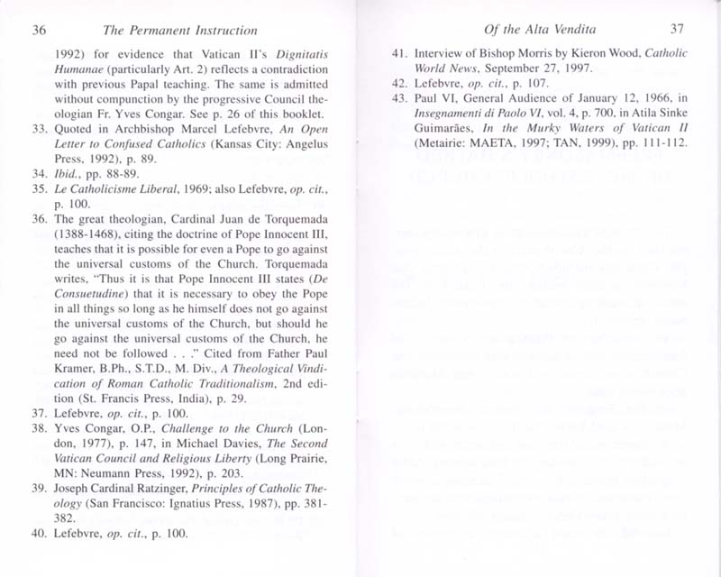 The Permanent Instruction of the Alta Vendita: A Masonic Blueprint for the Subversion of The Catholic Church page 36-37