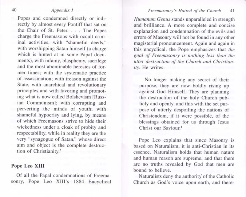 The Permanent Instruction of the Alta Vendita: A Masonic Blueprint for the Subversion of The Catholic Church page 40-41