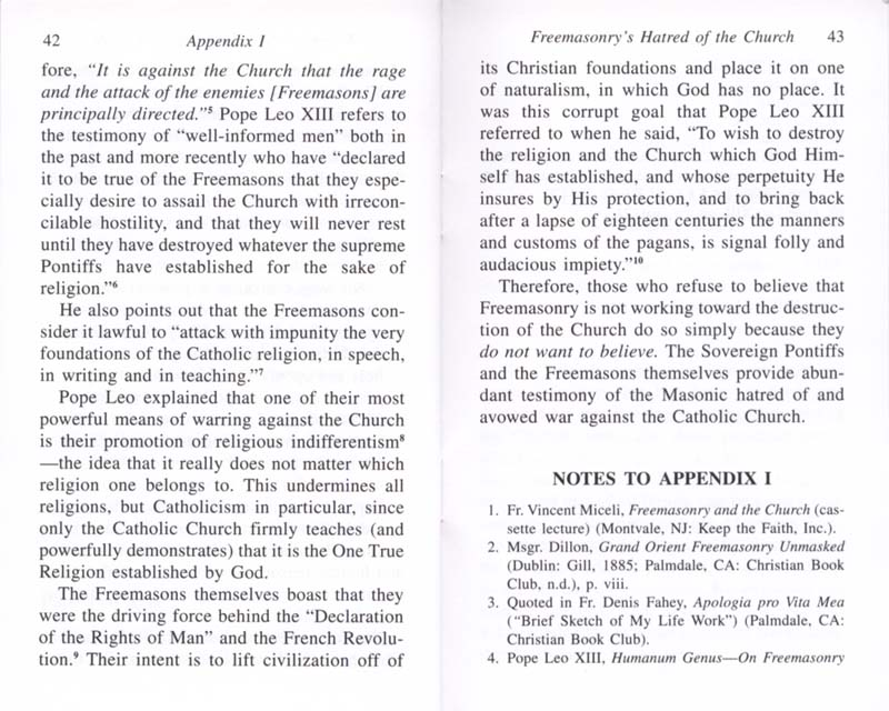 The Permanent Instruction of the Alta Vendita: A Masonic Blueprint for the Subversion of The Catholic Church page 42-43