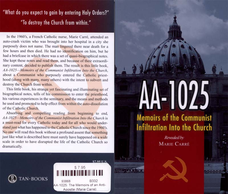 Memoirs of the Communist Infiltration Into the Catholic Church cover