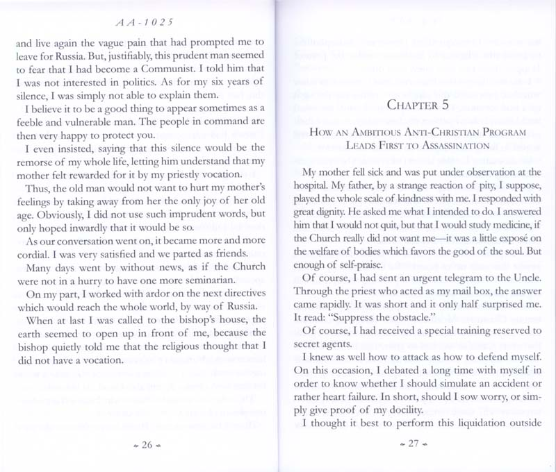 Memoirs of the Communist Infiltration Into the Catholic Church p. 26-27