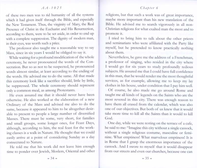Memoirs of the Communist Infiltration Into the Catholic Church p. 34-35