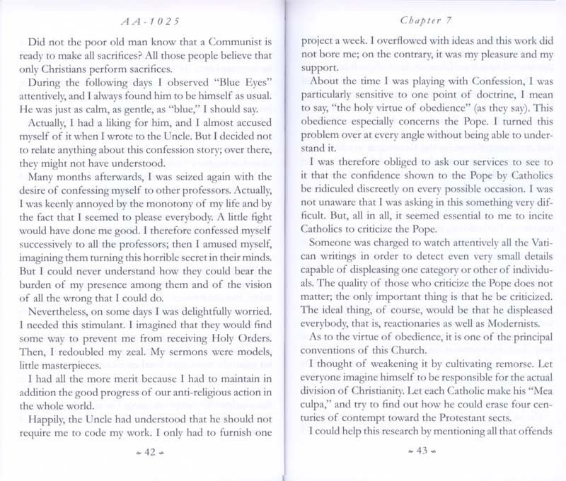 Memoirs of the Communist Infiltration Into the Catholic Church p. 42-43