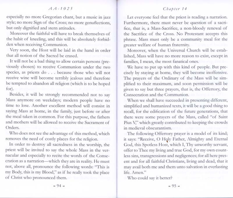 Memoirs of the Communist Infiltration Into the Catholic Church p. 94-95