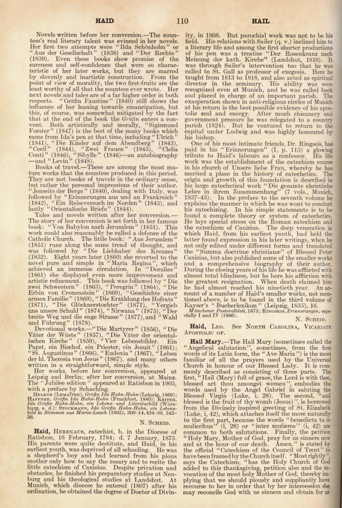 Catholic Encyclopedia Hail page 110