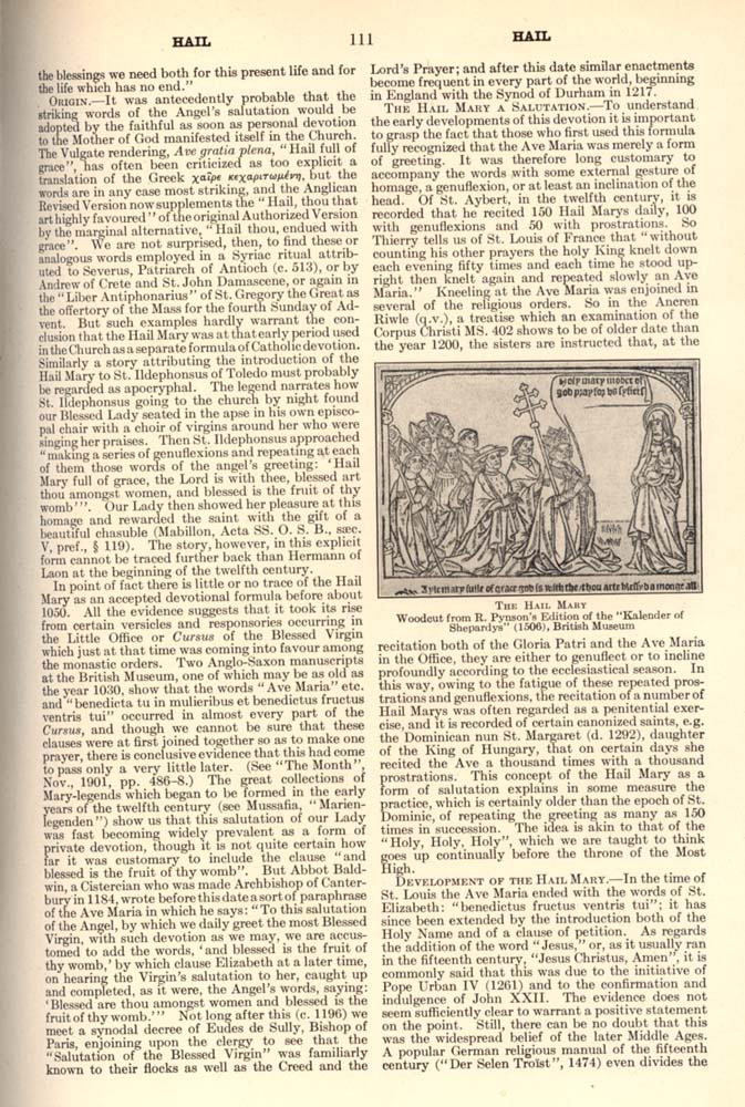Catholic Encyclopedia Hail page 111