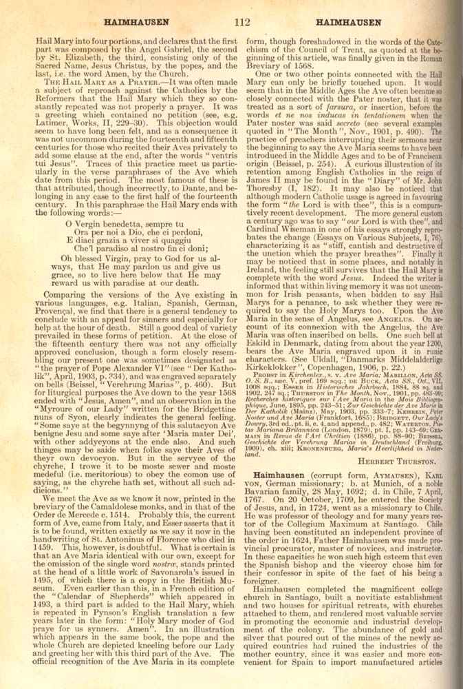 Catholic Encyclopedia Hail page 112
