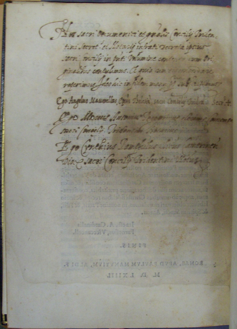 Council of Trent Depaul Special Collections photo 21