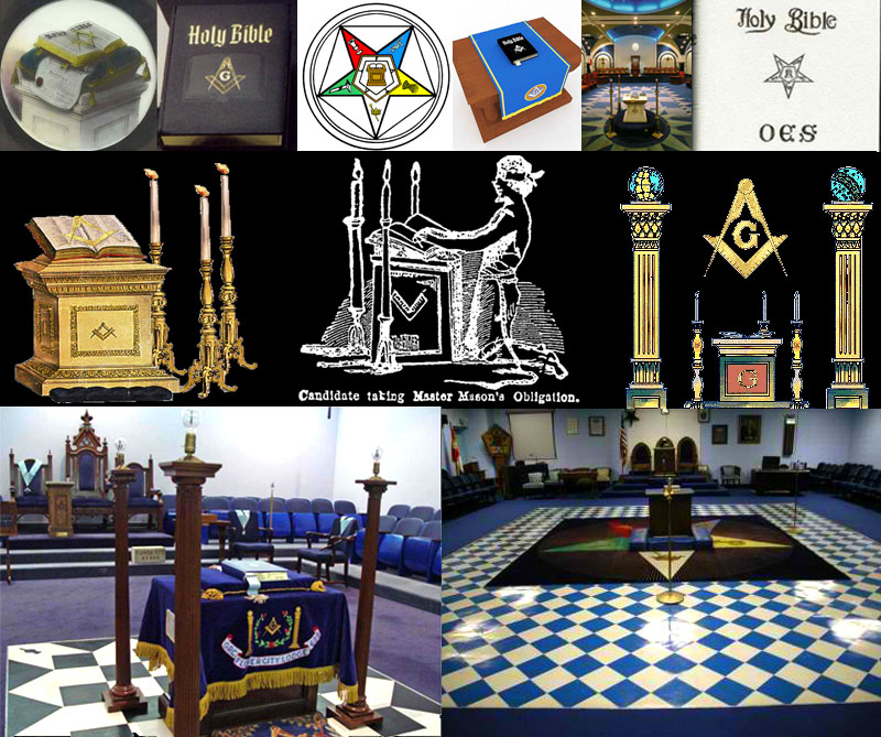 The Masonic Bible is considered Lodge furniture