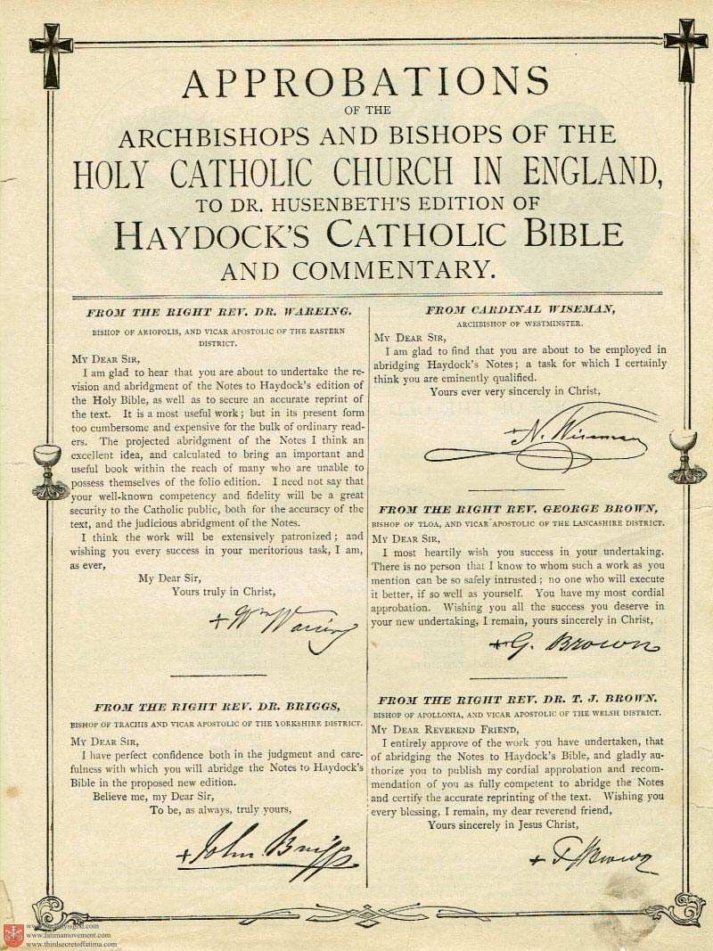 The Haydock Douay Rheims Bible page 0020