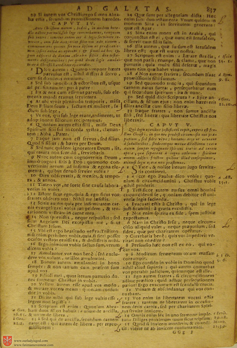 Catholic Latin Vulgate Bible page 0852