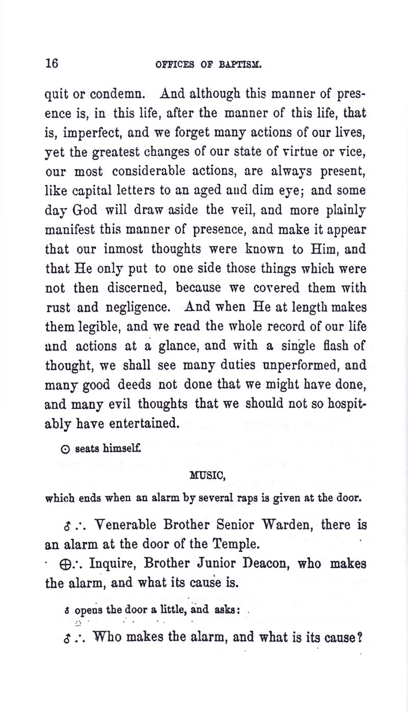 Masonic Baptism of Children by Albert Pike Part I page 16