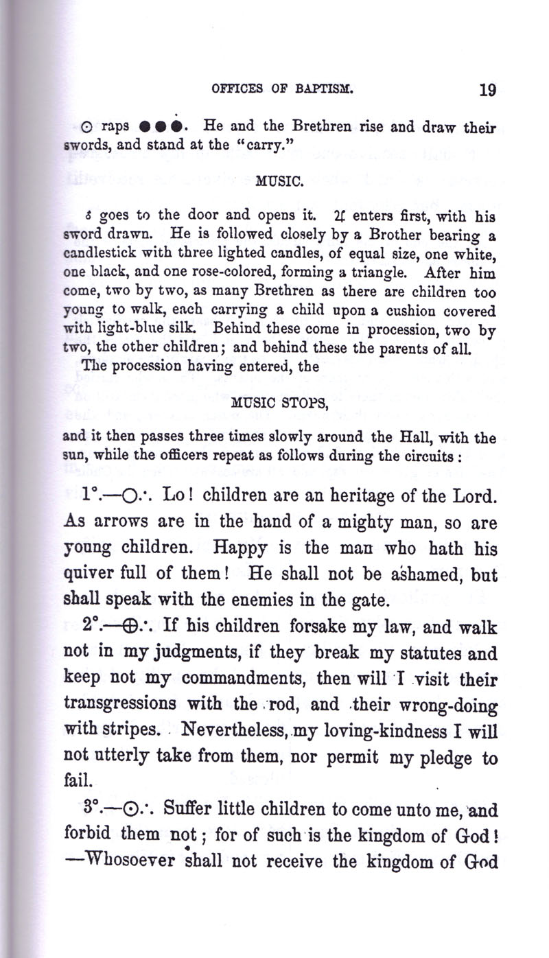 Masonic Baptism of Children by Albert Pike Part I page 19