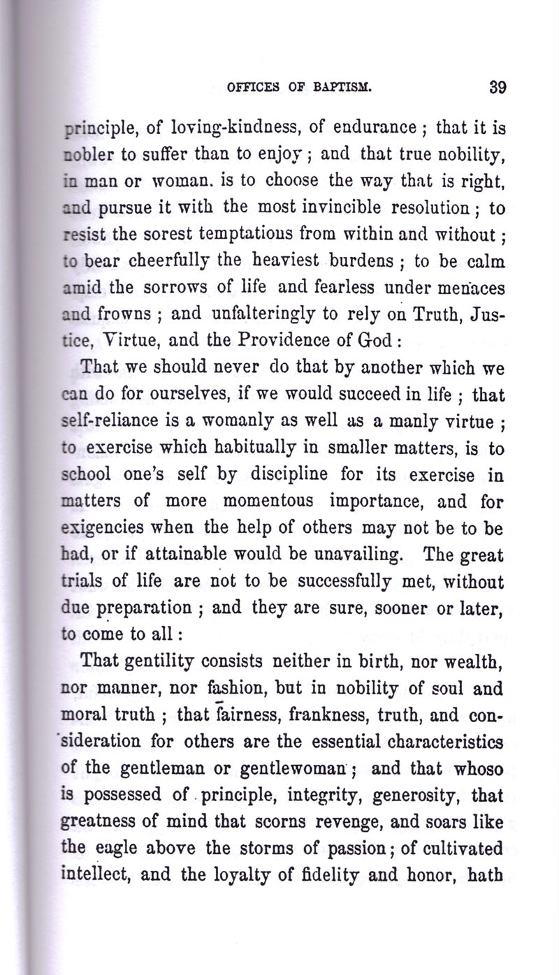 Masonic Baptism of Children by Albert Pike Part I page 39