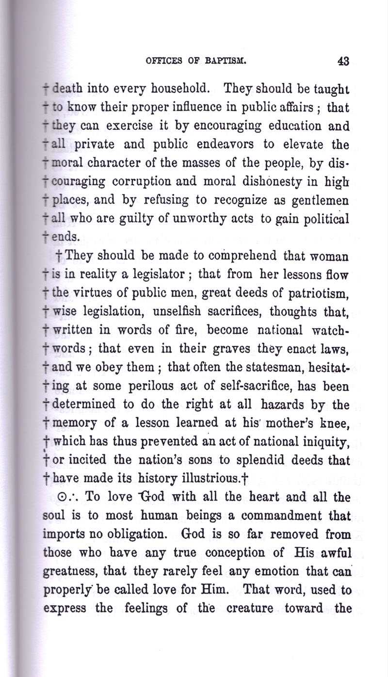 Masonic Baptism of Children by Albert Pike Part I page 43