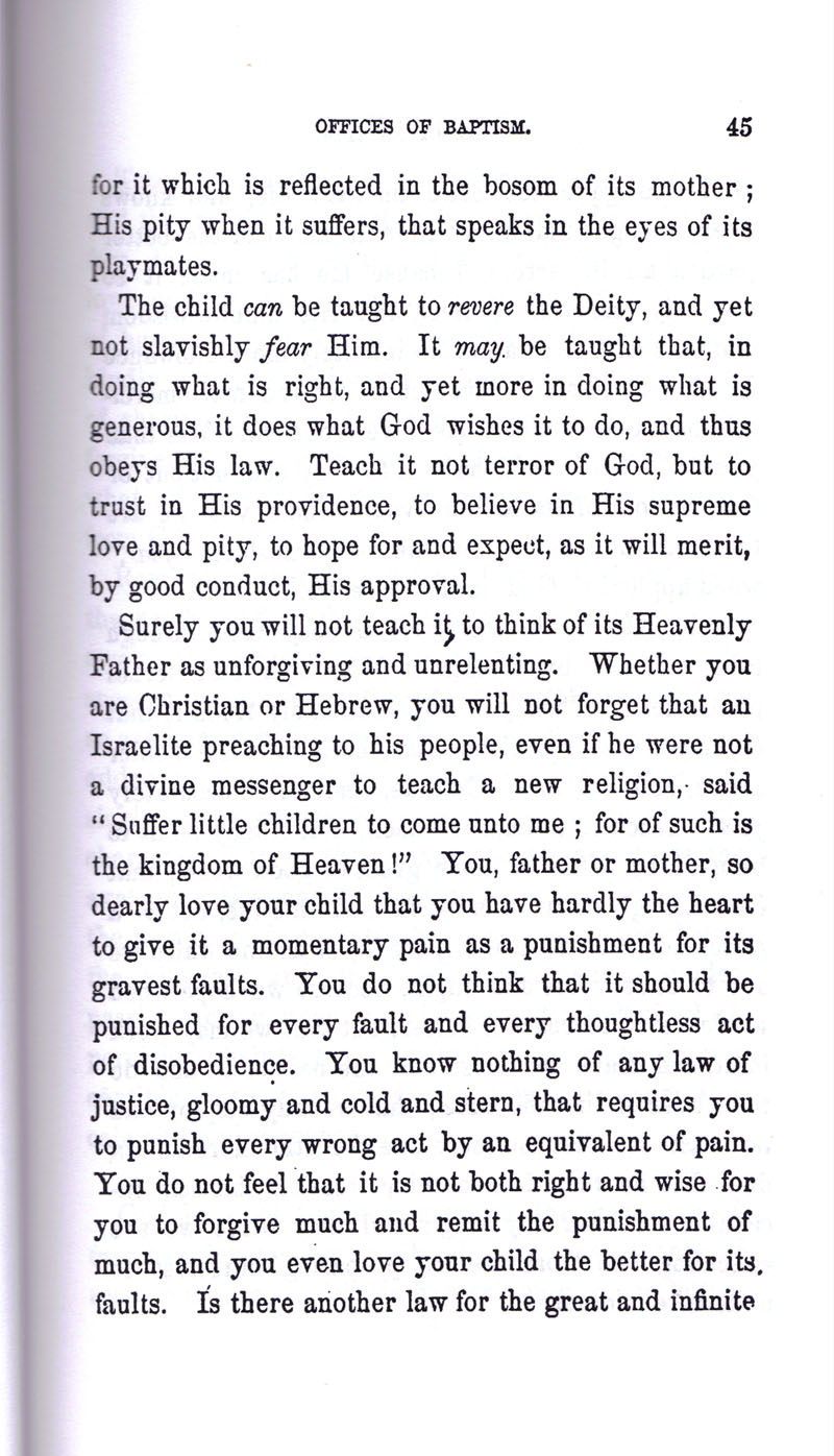 Masonic Baptism of Children by Albert Pike Part I page 45