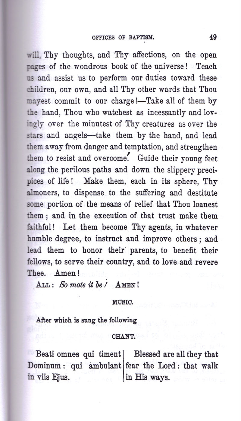 Masonic Baptism of Children by Albert Pike Part I page 49