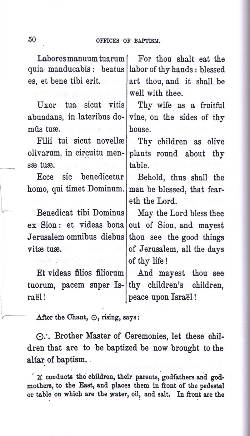 Masonic Baptism of Children by Albert Pike Part I page 50