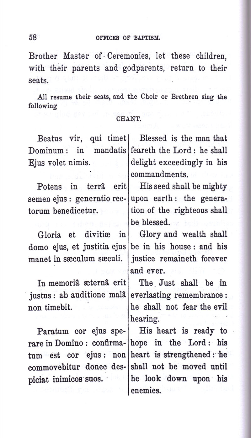 Masonic Baptism of Children by Albert Pike Part I page 58