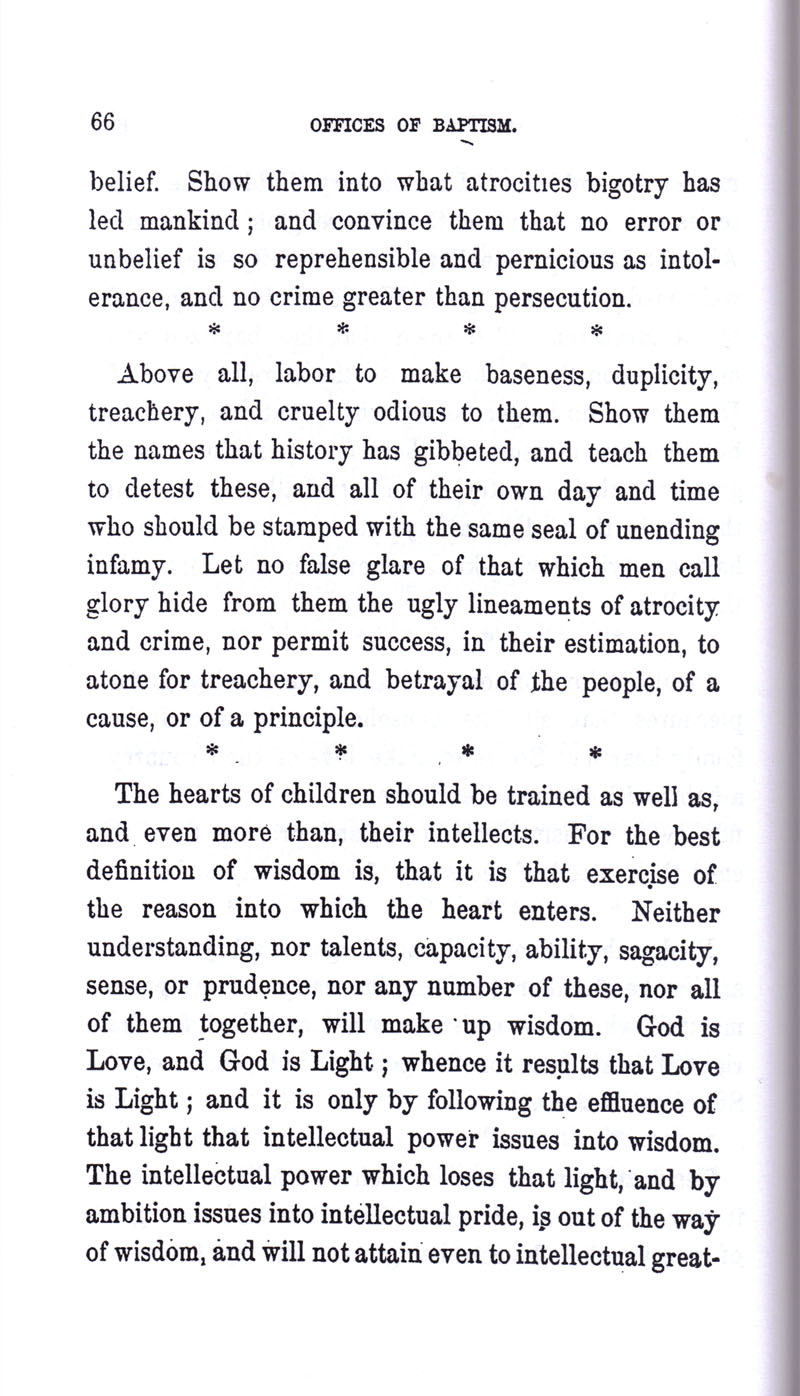 Masonic Baptism of Children by Albert Pike Part I page 66
