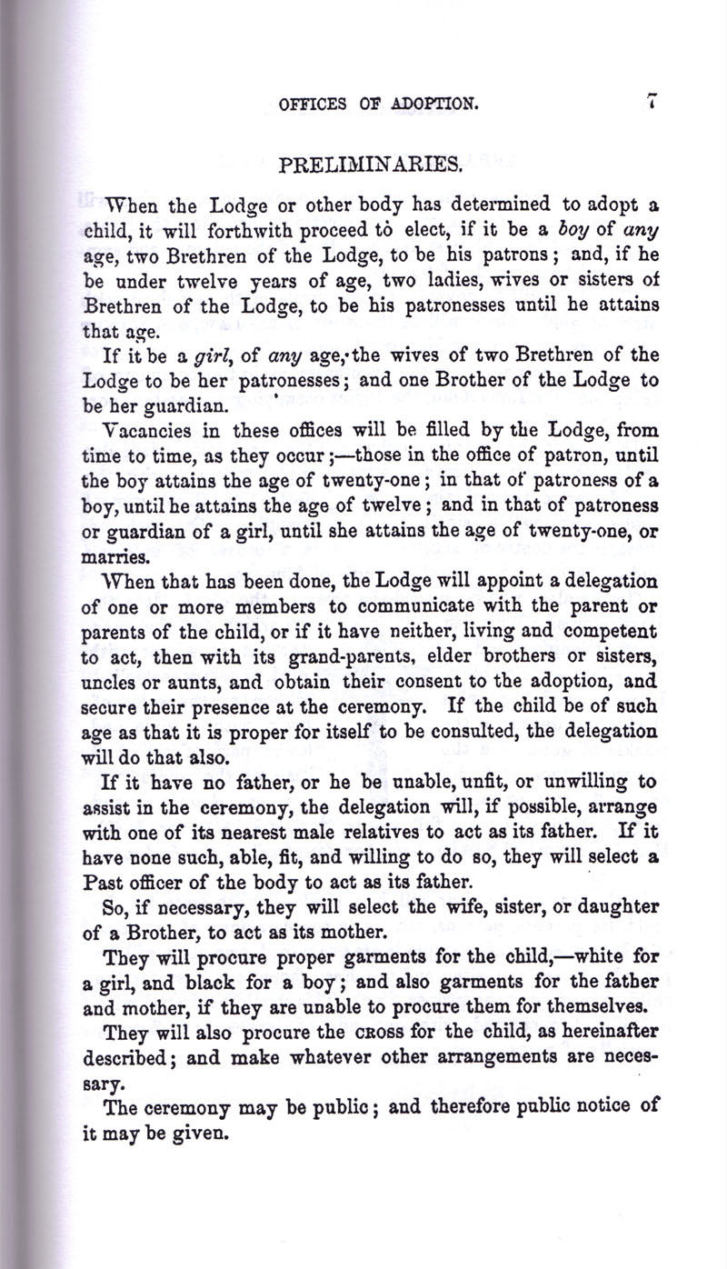 Masonic Baptism of Children by Albert Pike Part III page 7