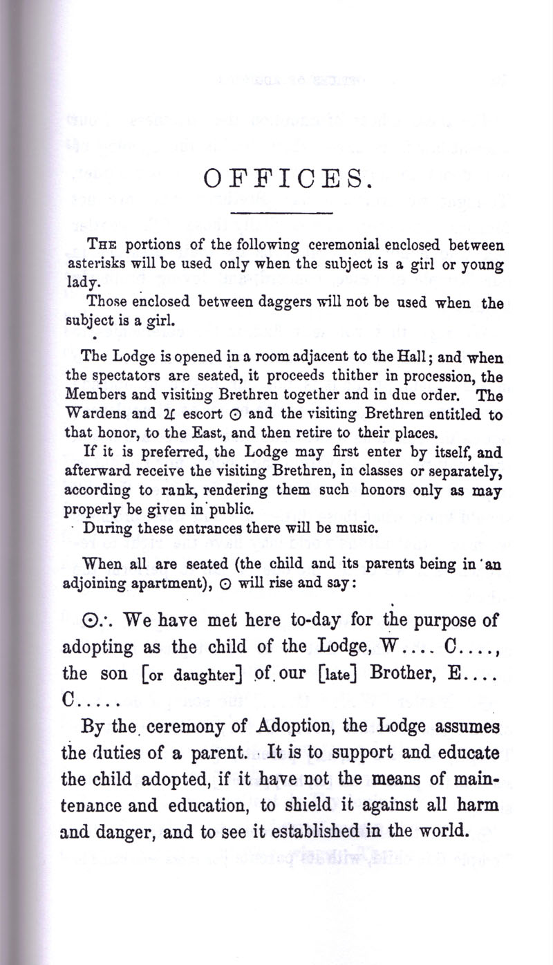 Masonic Baptism of Children by Albert Pike Part III page 9
