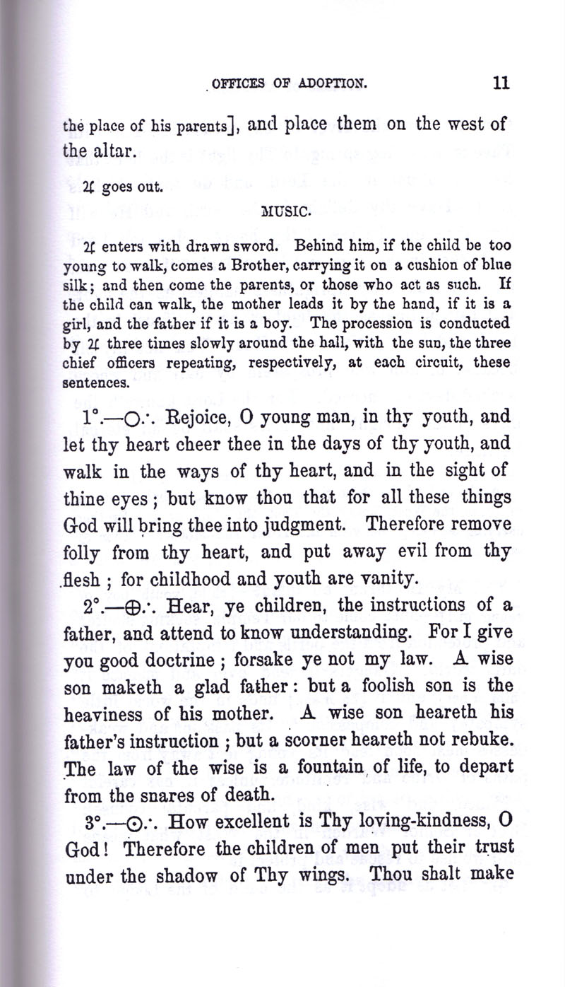Masonic Baptism of Children by Albert Pike Part III page 11