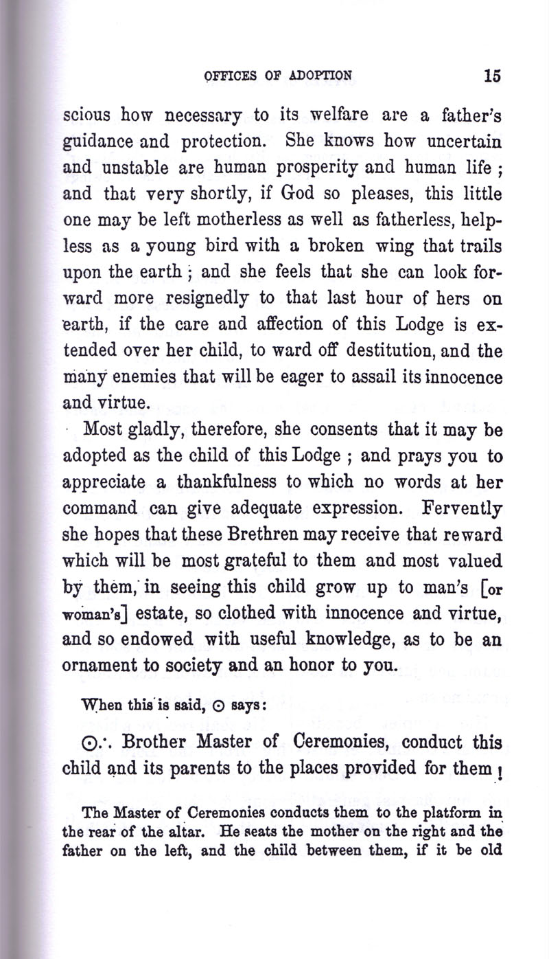 Masonic Baptism of Children by Albert Pike Part III page 15