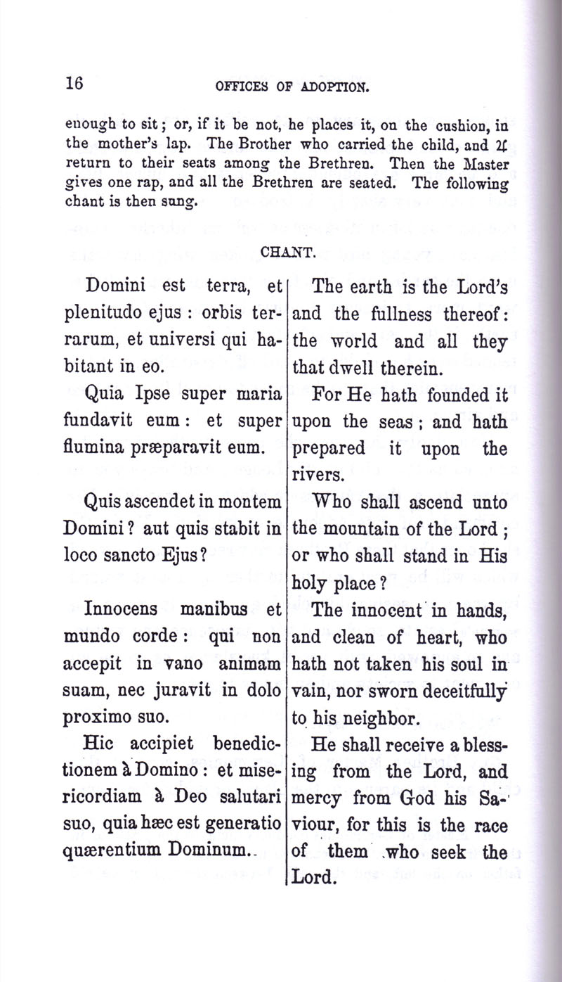 Masonic Baptism of Children by Albert Pike Part III page 16