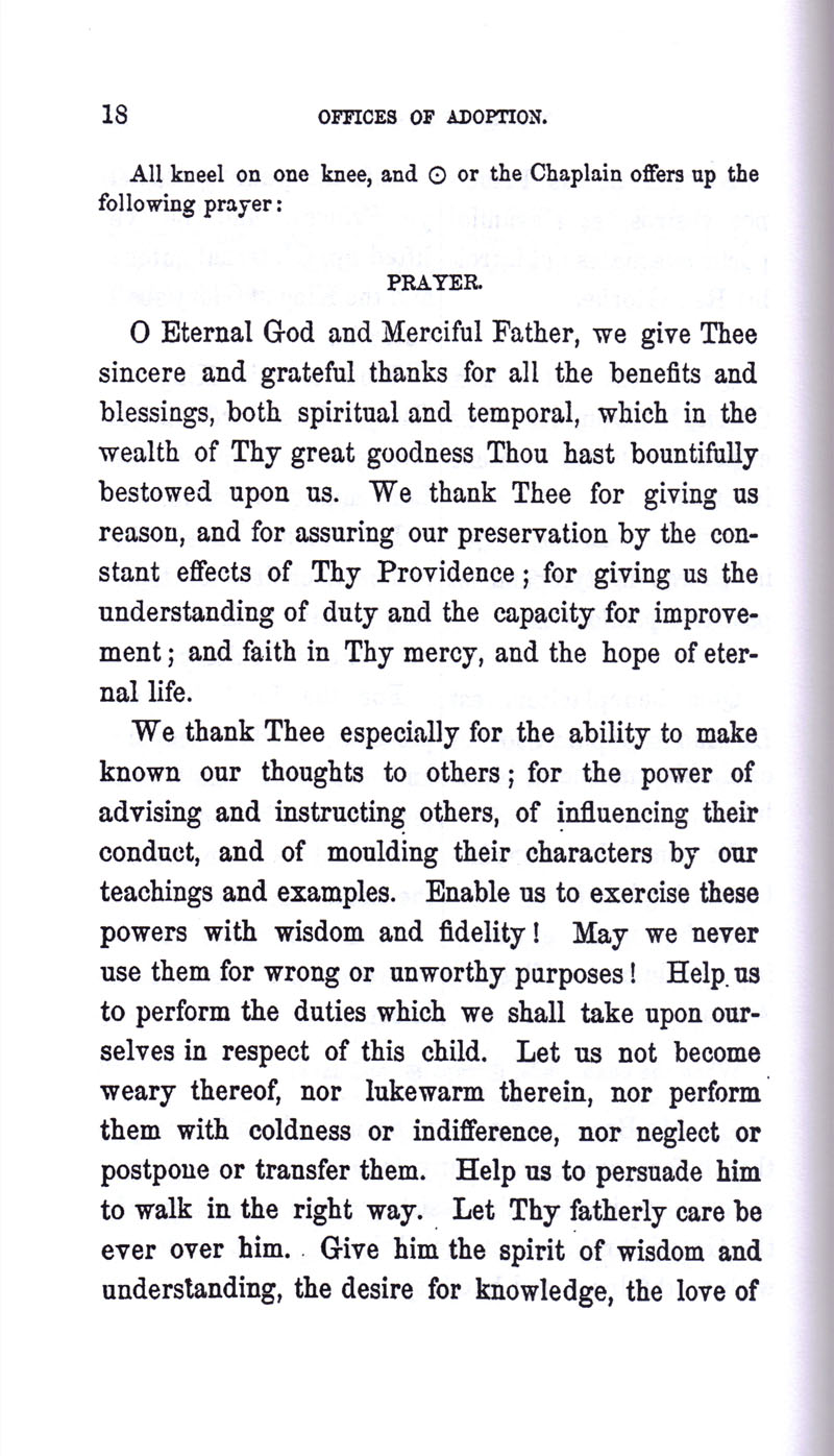 Masonic Baptism of Children by Albert Pike Part III page 18