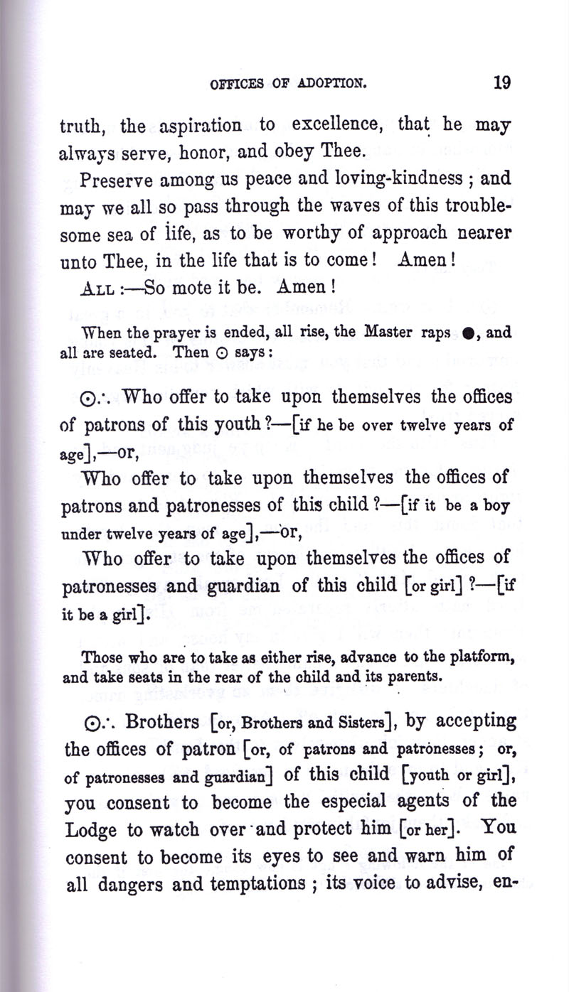 Masonic Baptism of Children by Albert Pike Part III page 19