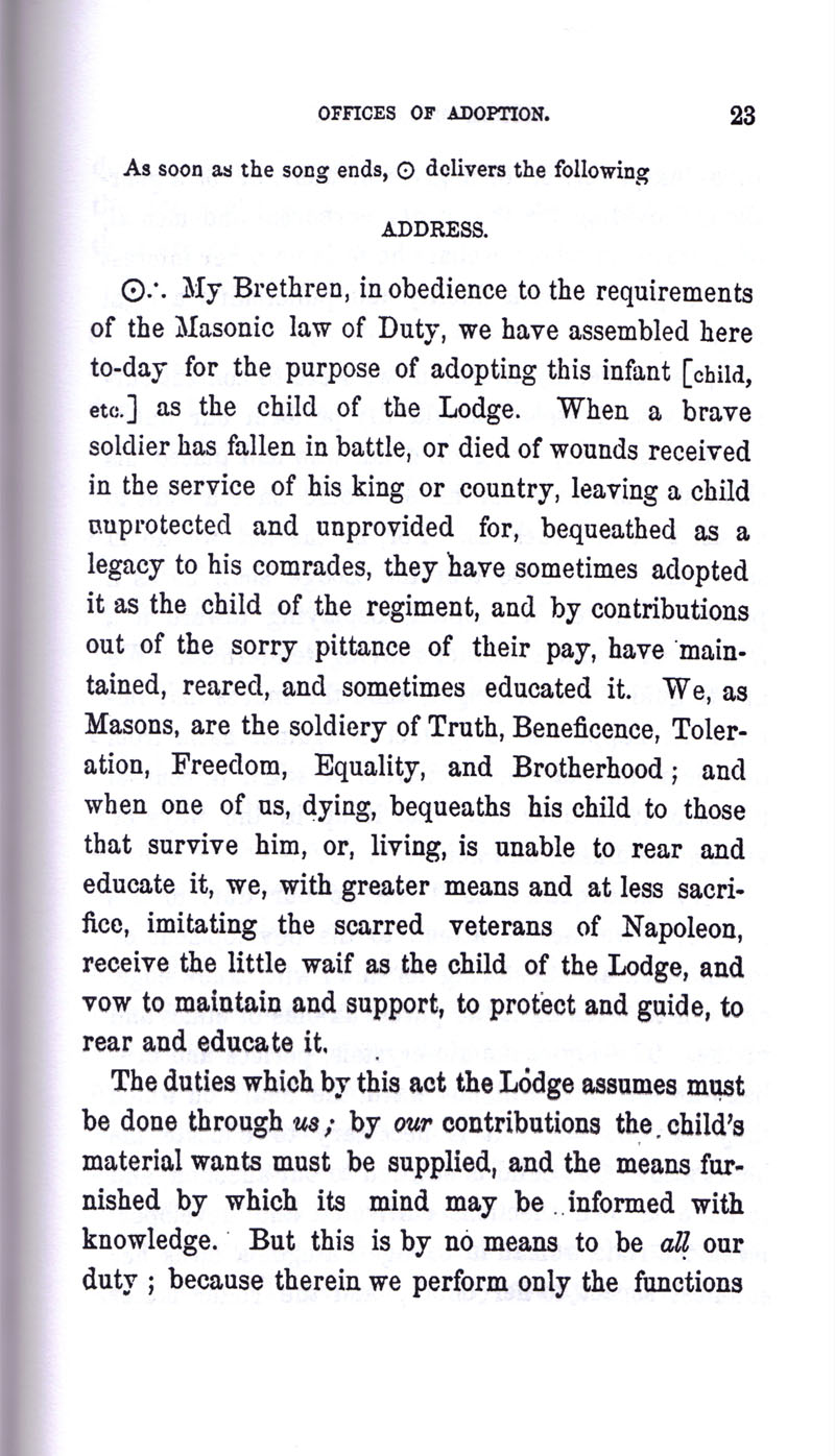 Masonic Baptism of Children by Albert Pike Part III page 23