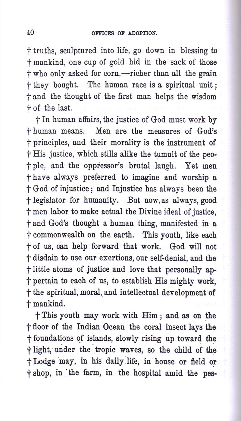 Masonic Baptism of Children by Albert Pike Part III page 40