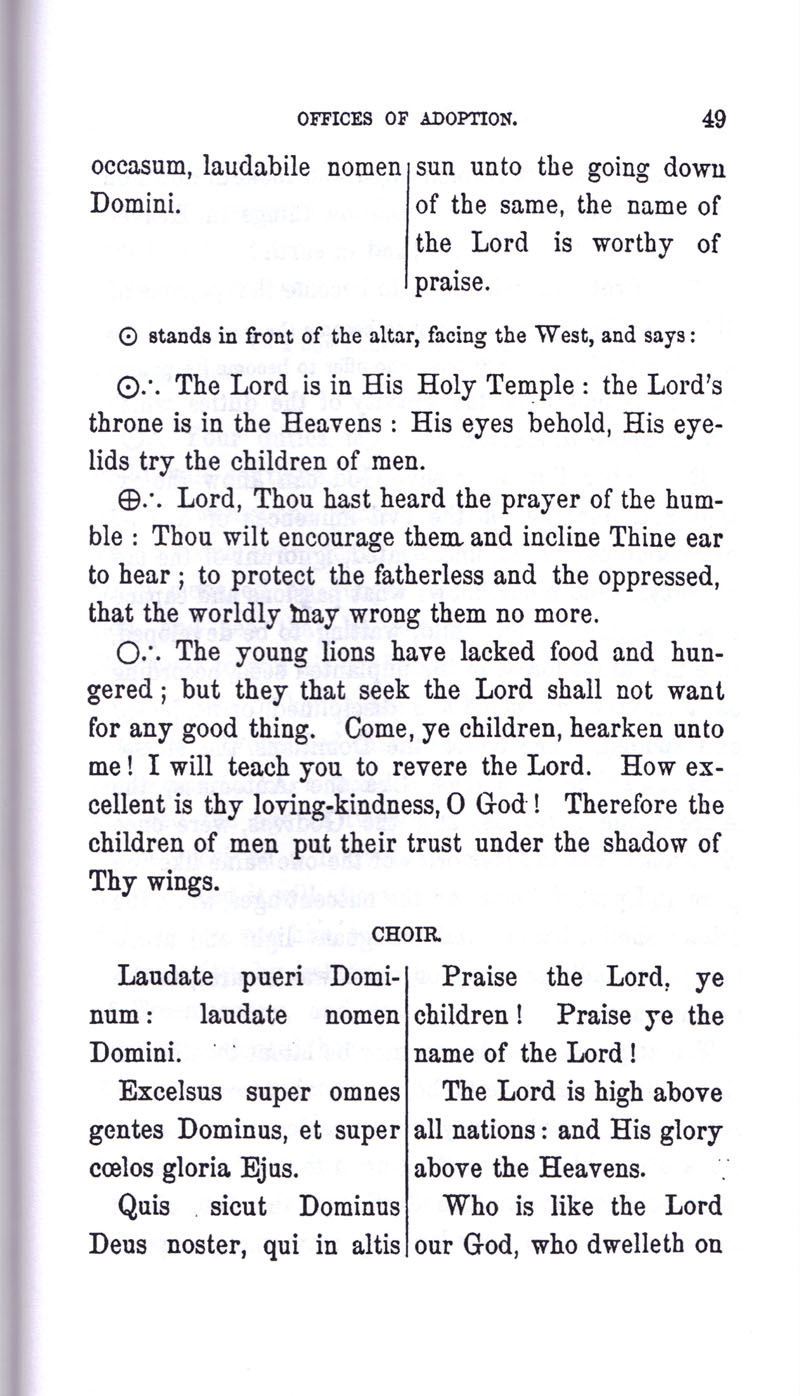 Masonic Baptism of Children by Albert Pike Part III page 49