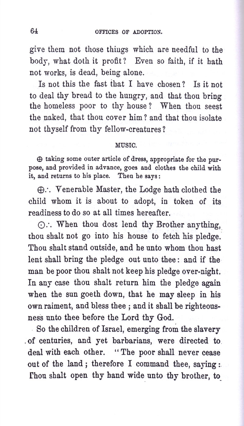 Masonic Baptism of Children by Albert Pike Part III page 64