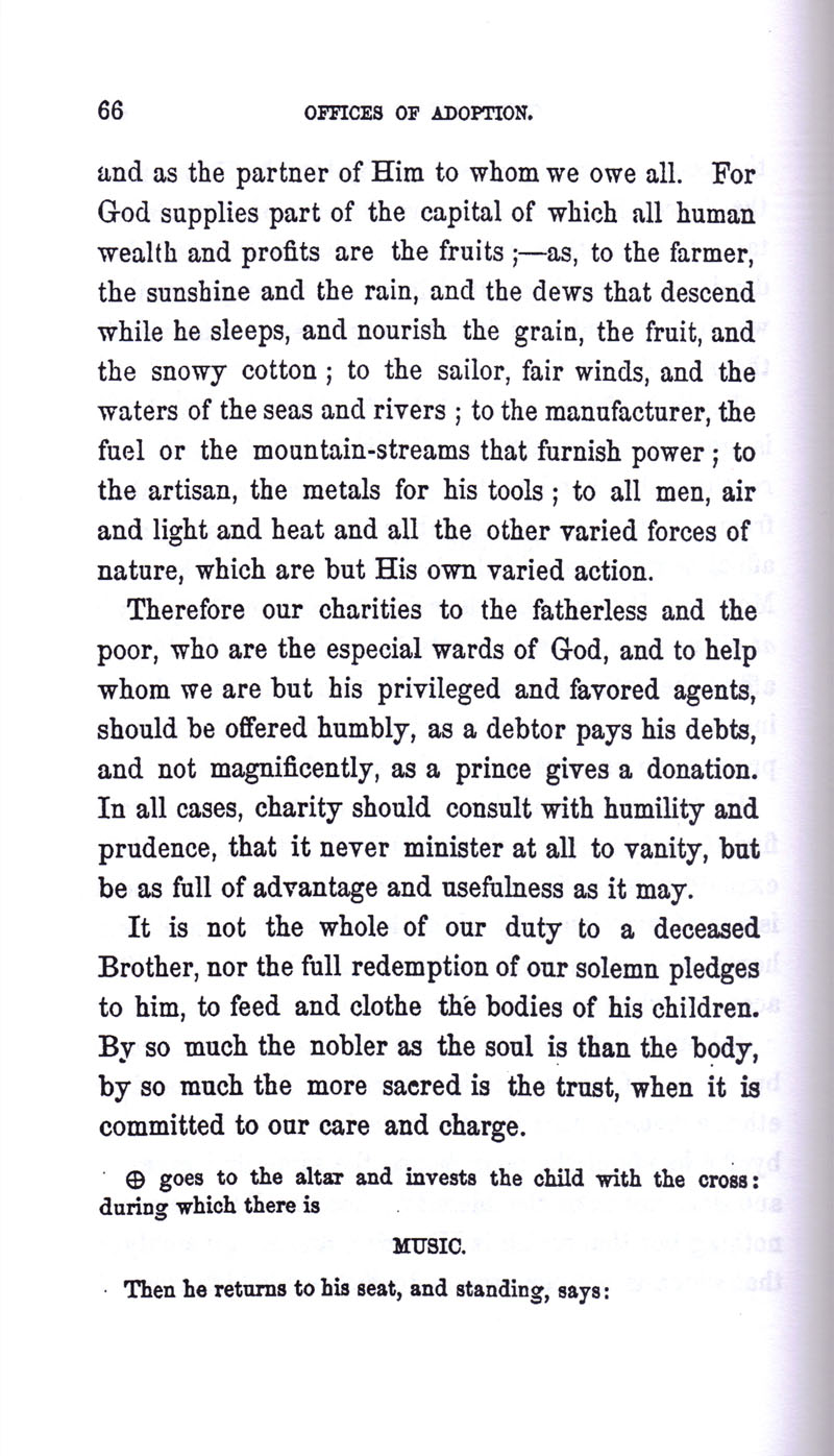 Masonic Baptism of Children by Albert Pike Part III page 66