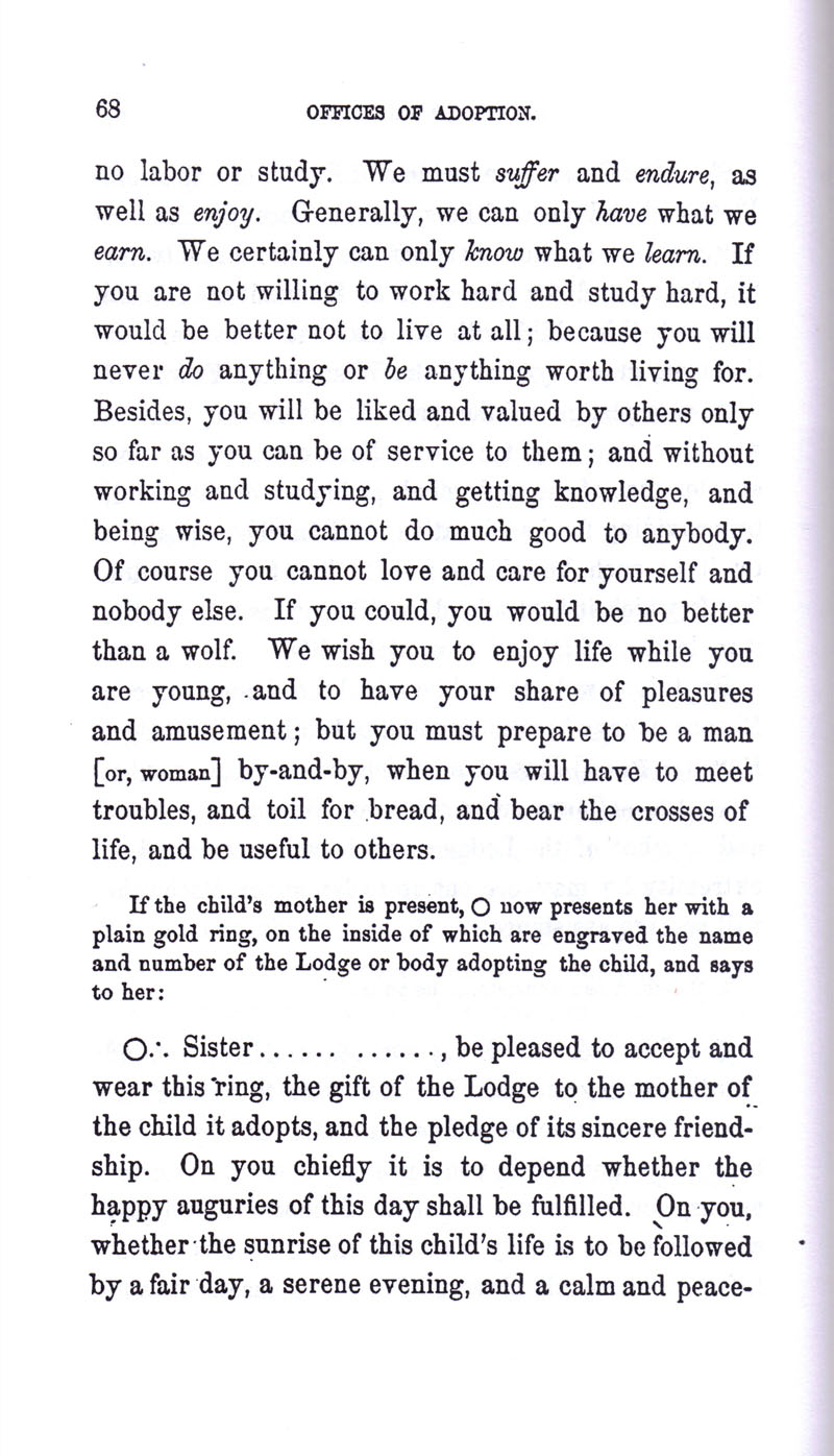 Masonic Baptism of Children by Albert Pike Part III page 68