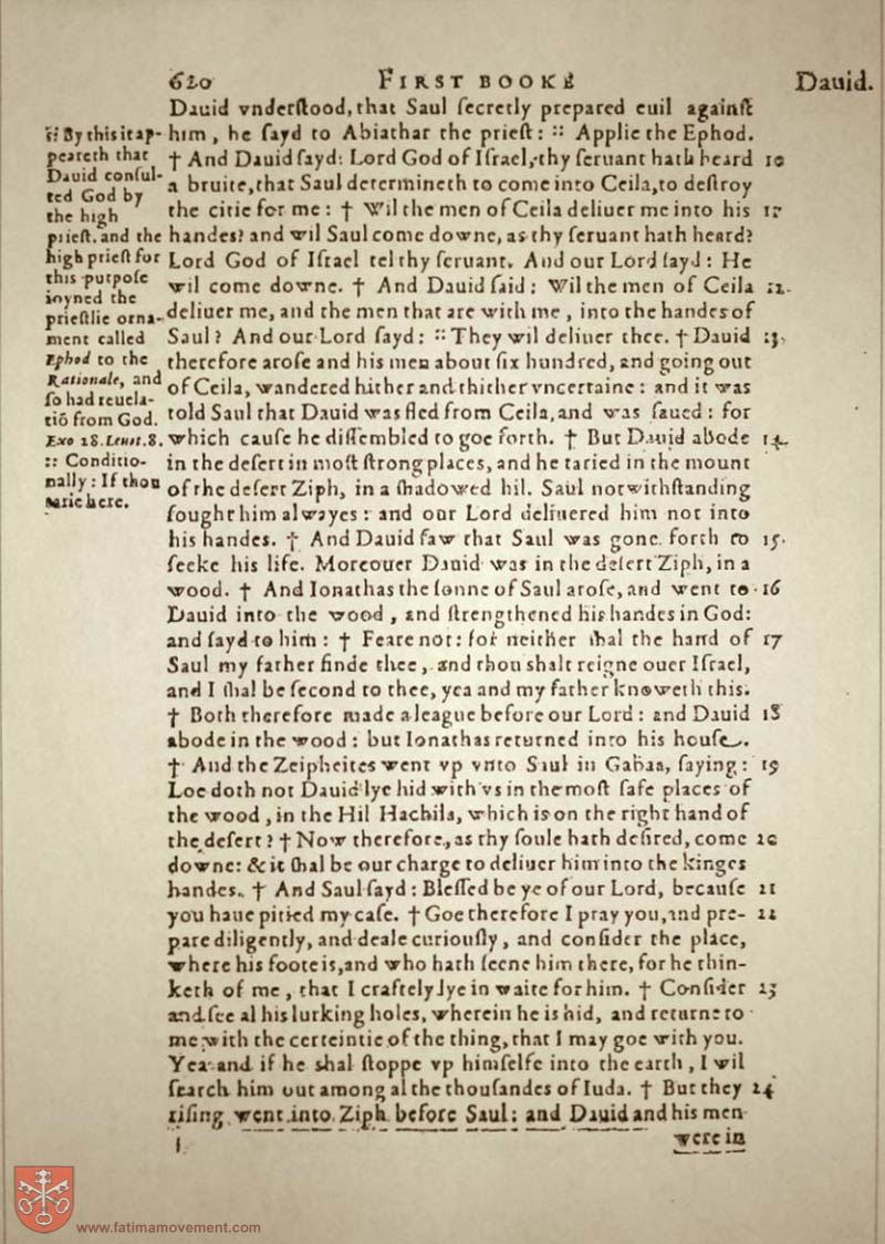 Original Douay Rheims Catholic Bible scan 0640