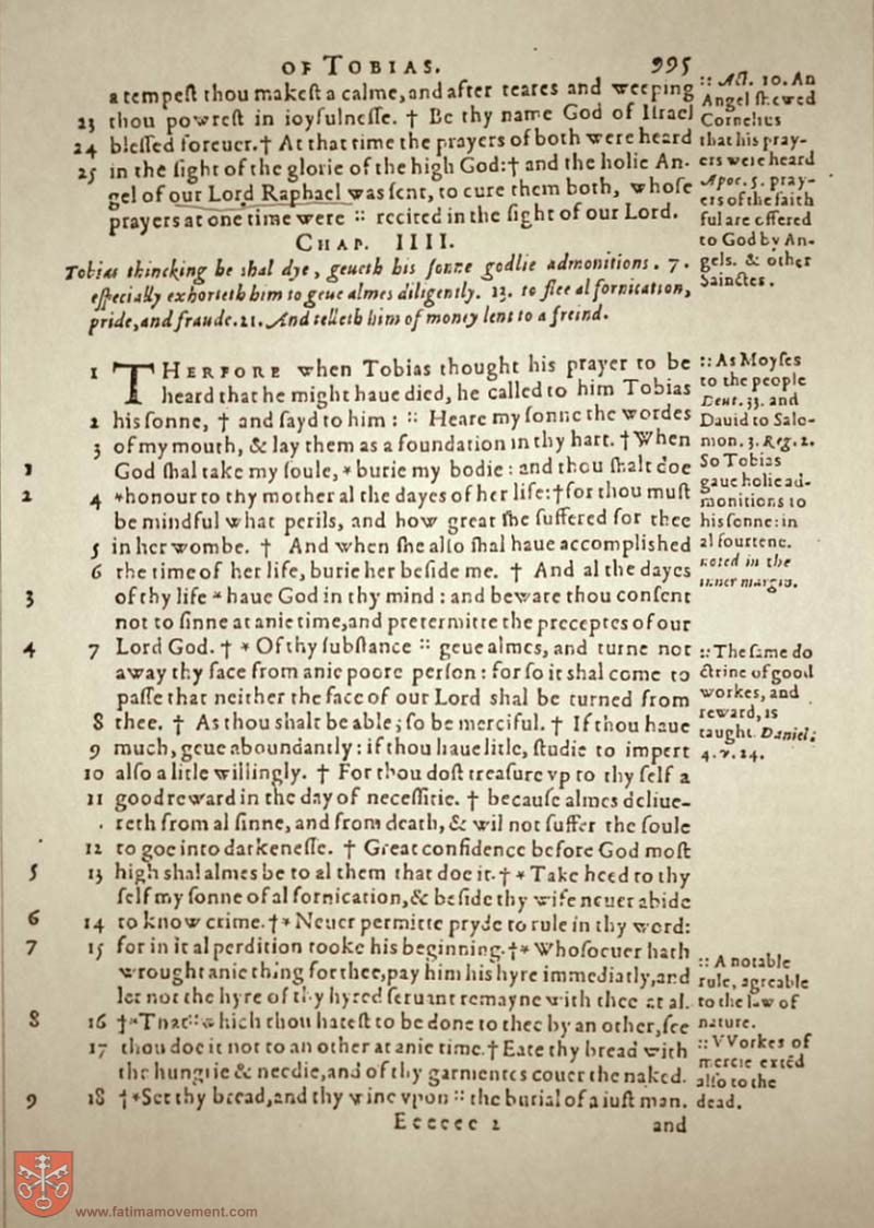 Original Douay Rheims Catholic Bible scan 1015