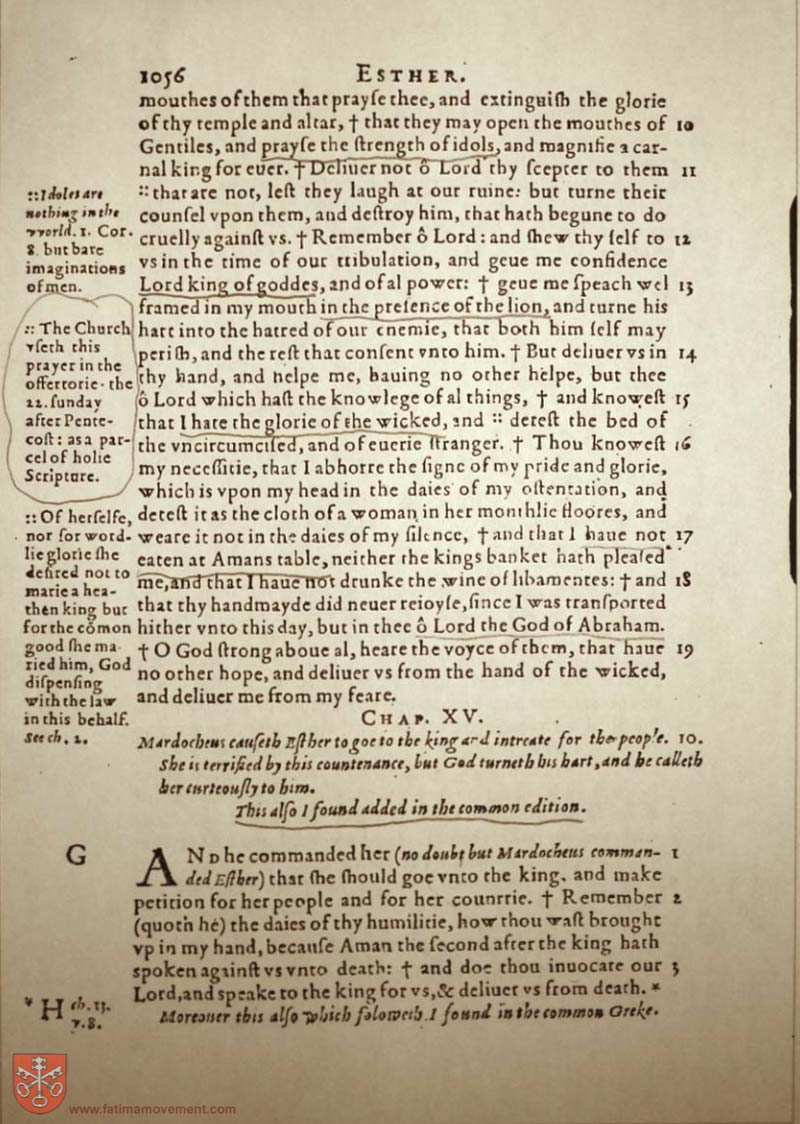 Original Douay Rheims Catholic Bible scan 1076