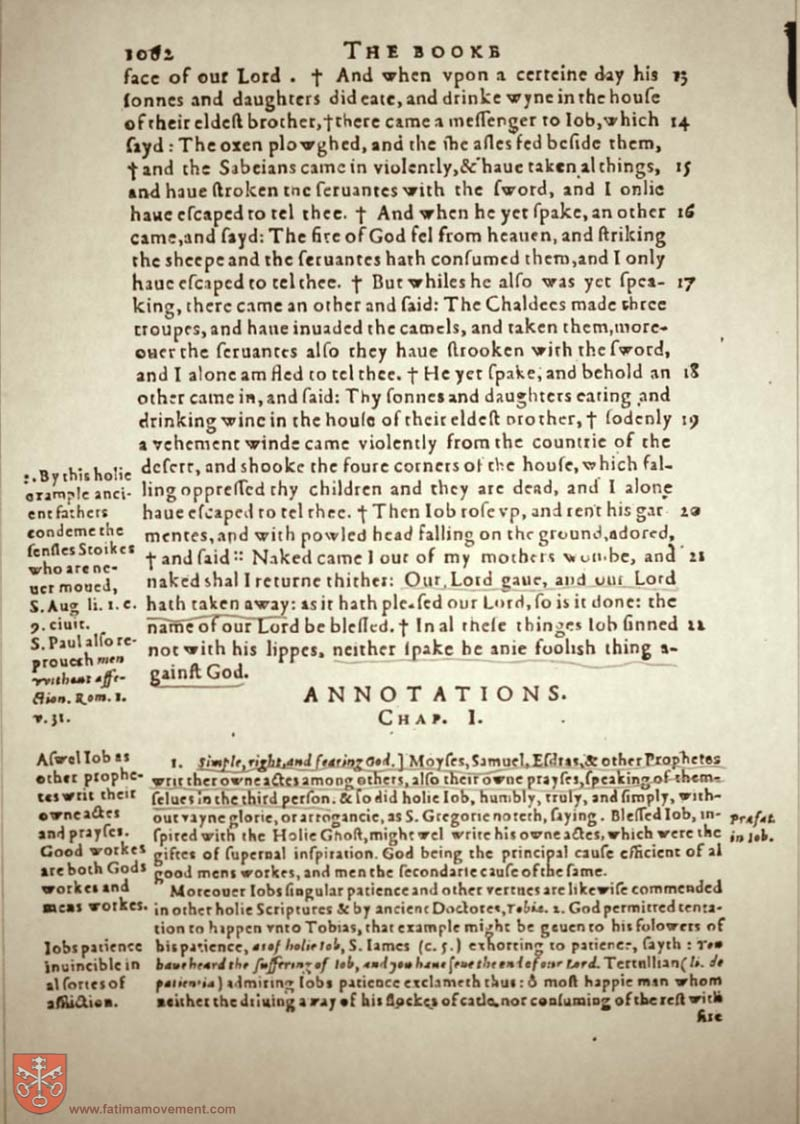 Original Douay Rheims Catholic Bible scan 1082