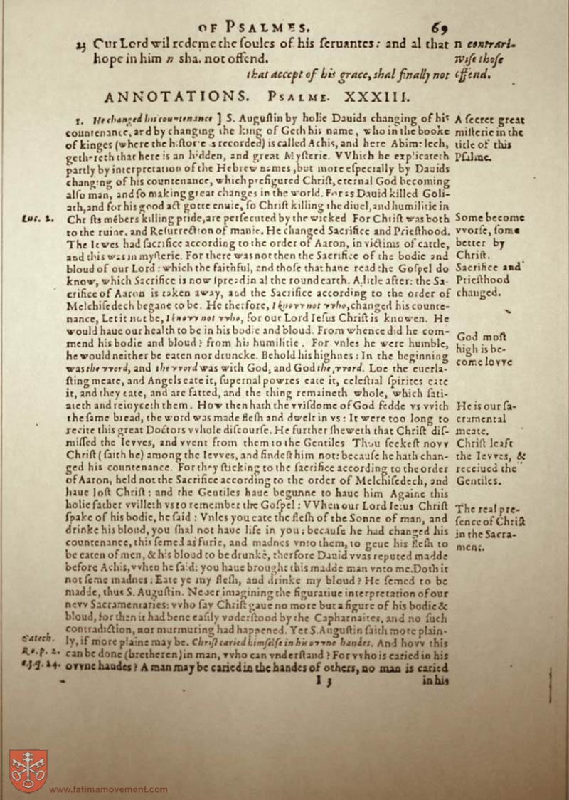 Original Douay Rheims Catholic Bible scan 1204