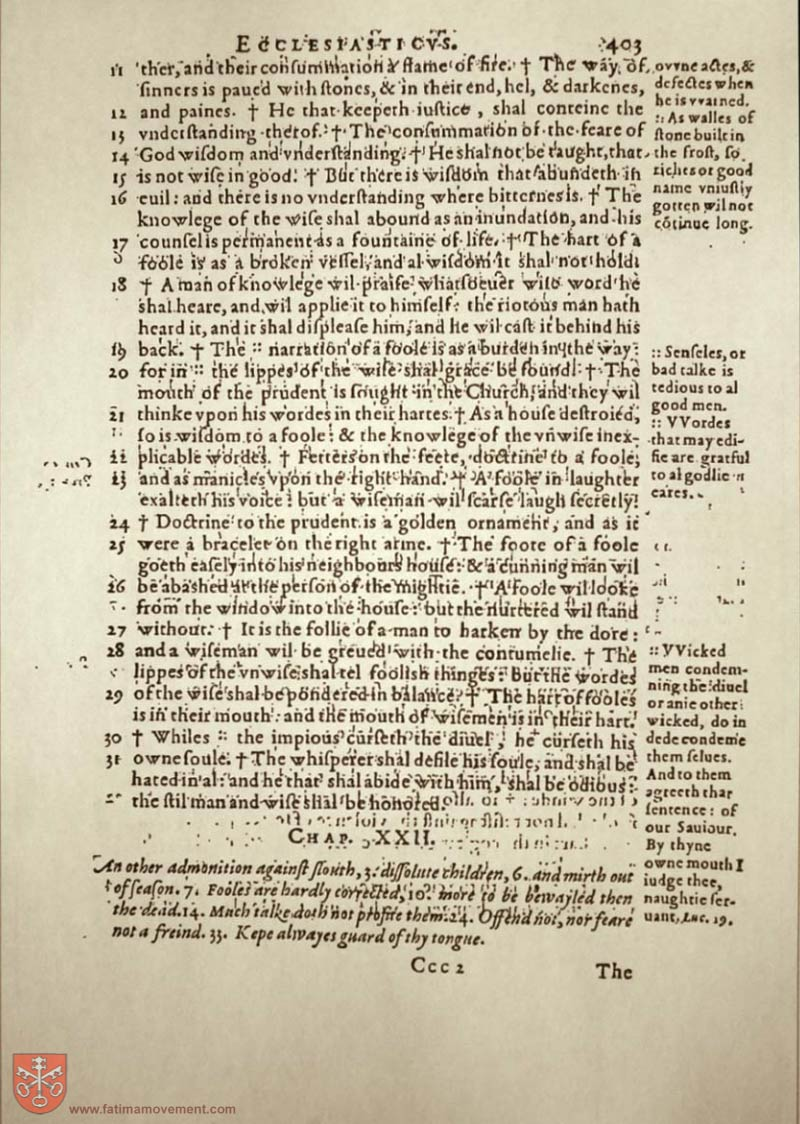 Original Douay Rheims Catholic Bible scan 1538