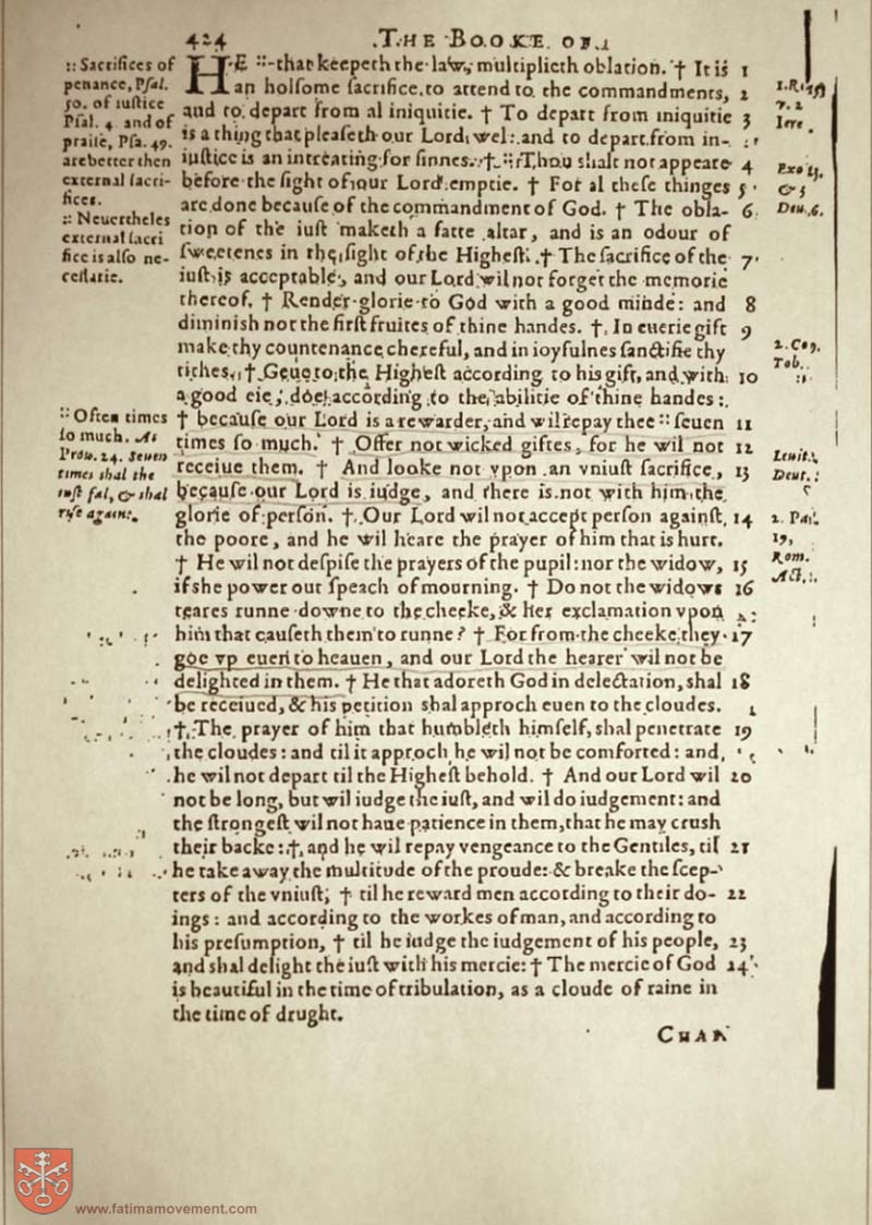 Original Douay Rheims Catholic Bible scan 1559