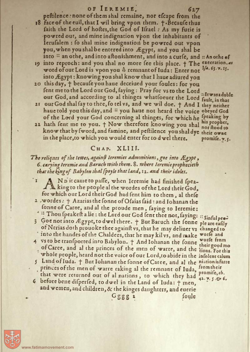 Original Douay Rheims Catholic Bible scan 1762