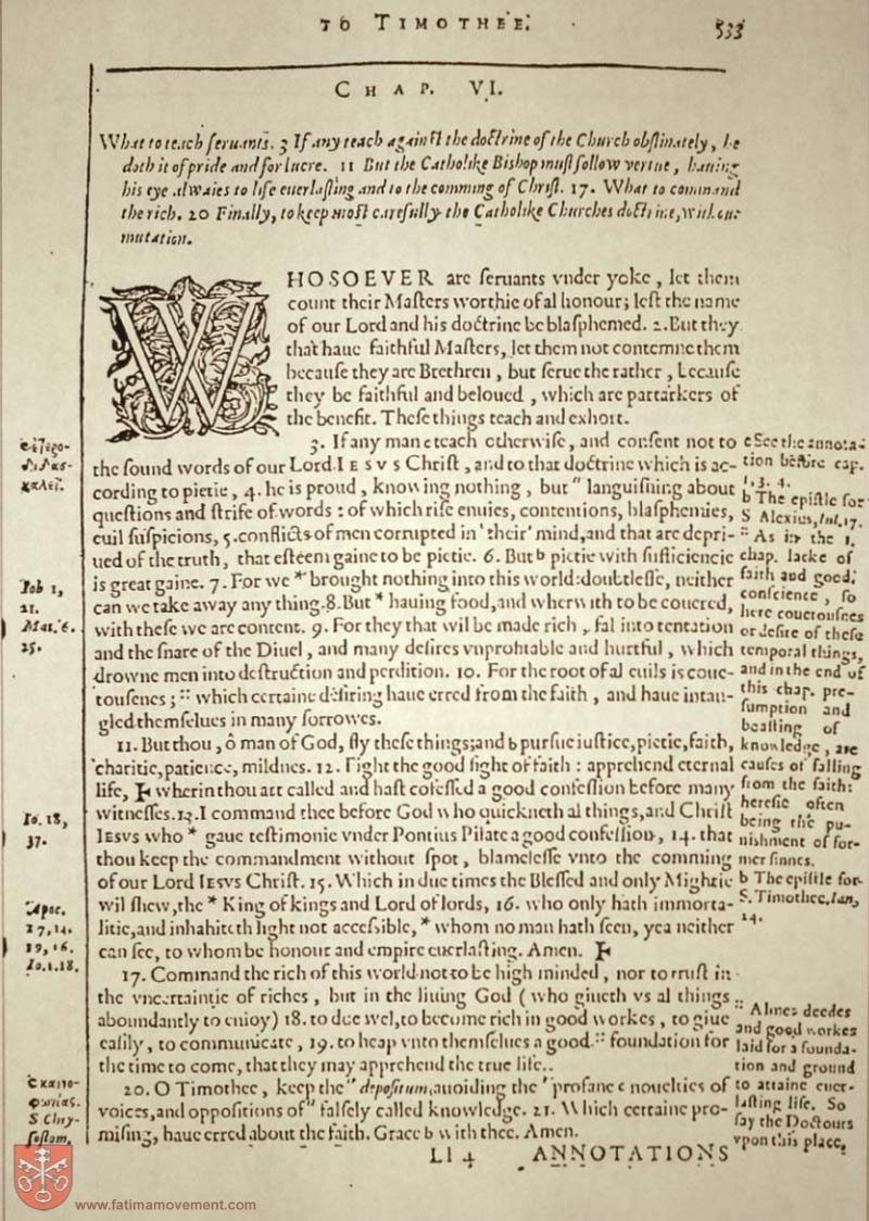 Original Douay Rheims Catholic Bible scan 2822